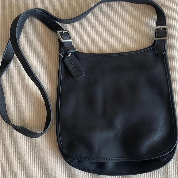 Grey Coach Flap Over Bag